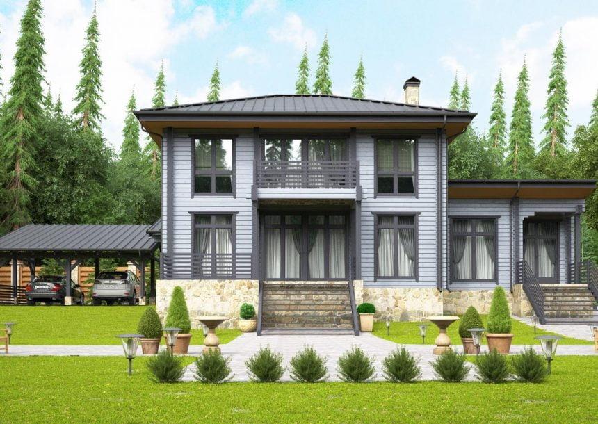 деревянный дом 8 8