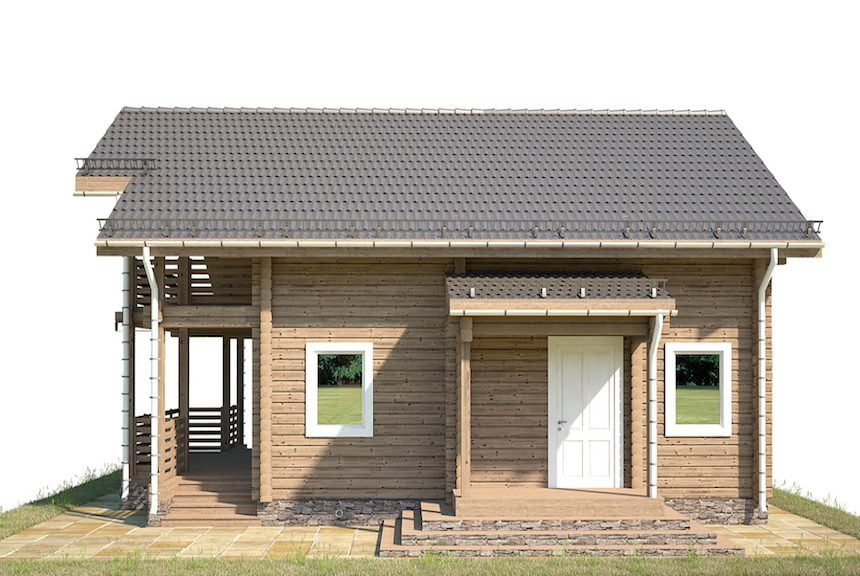 дом из профилированного бруса под ключ цена