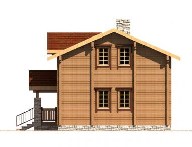 проекты деревянных домов из бруса
