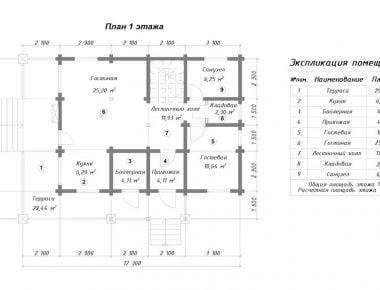 схема деревянного дома