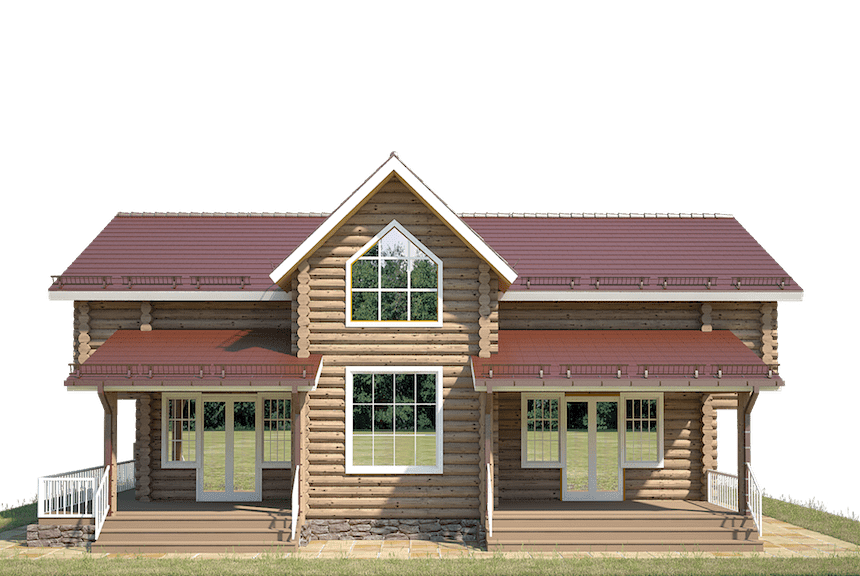 деревянные дома из бревна цена