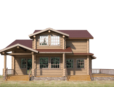 дом из оцилиндрованного бревна под ключ