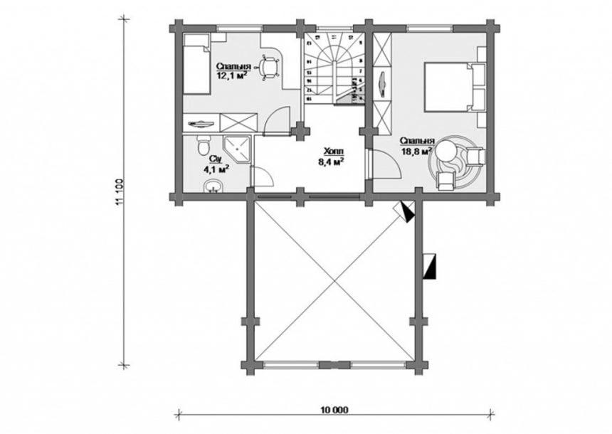 недорогие дома из бревна цены