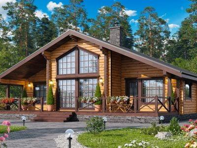 недорогие одноэтажные дома из бруса