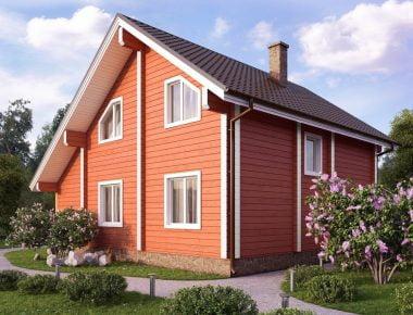 недорогой дом из бруса для постоянного проживания