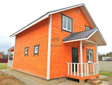 дом из обрезного бруса с отделкой