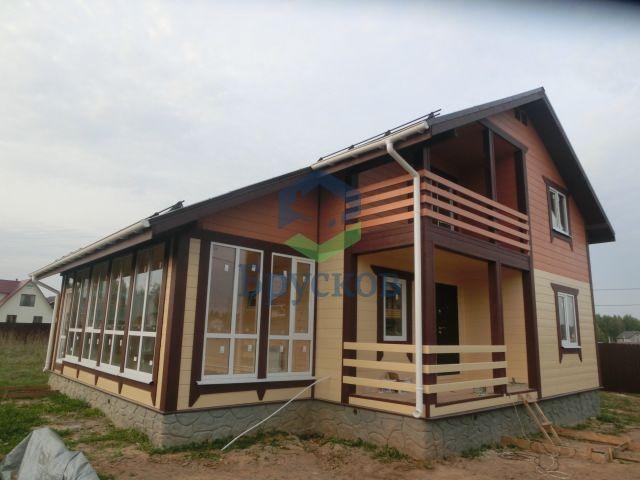 понарамный дом из бруса