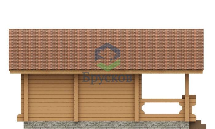 проект гаража с баней